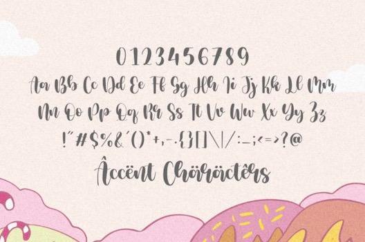 Milcandy Font