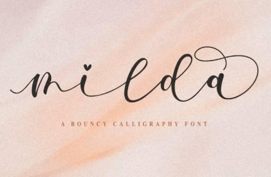 Milda Font free download