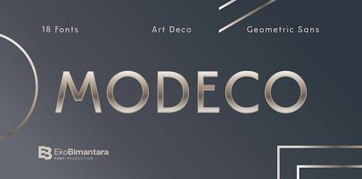 Modeco Font free download