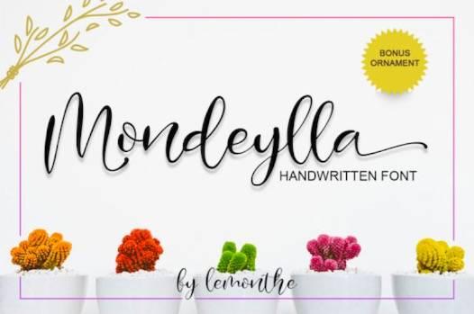 Mondeylla Font free download