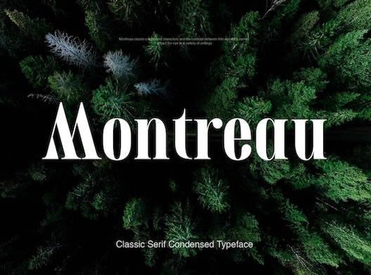 Montreau Font free