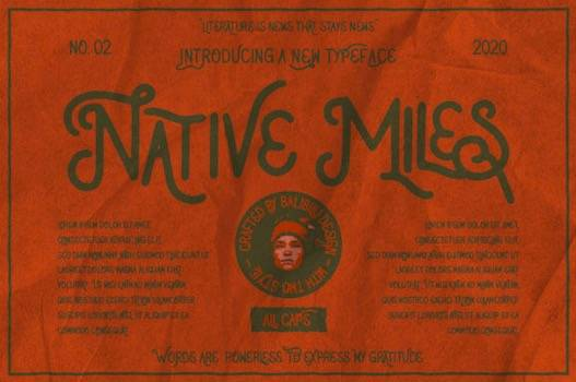 Native Miles Font free download