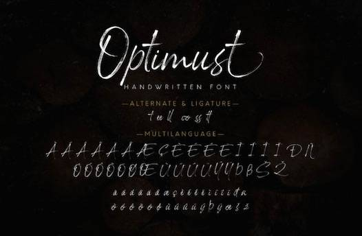 Optimust Font free