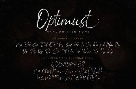 Optimust Font download