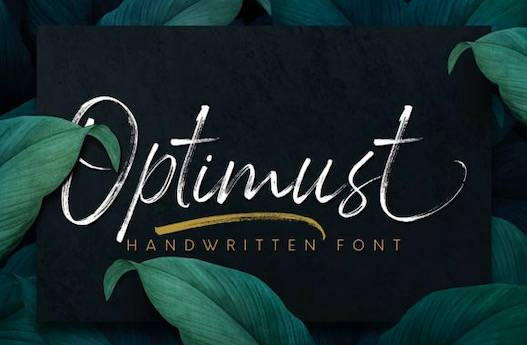 Optimust font free download
