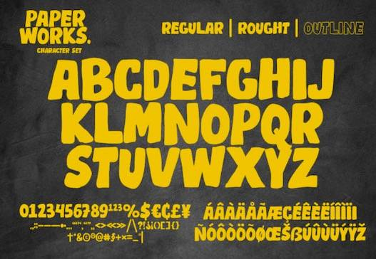 Paper Works Font free