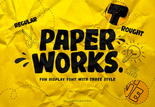 Paper Works Font free download