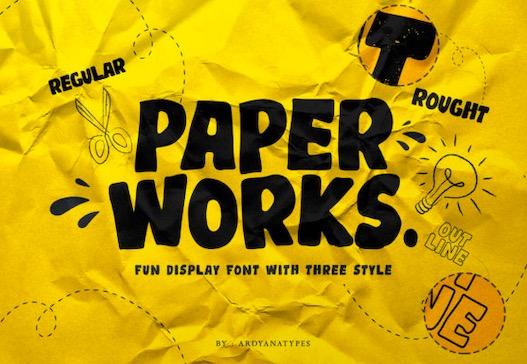 Paper Works Font free download