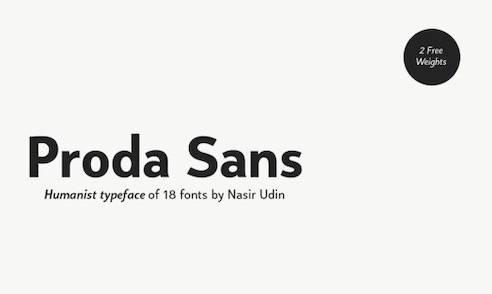 Proda Font