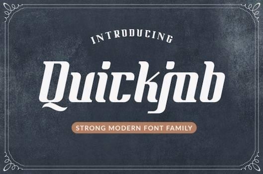 Quickjob Font free