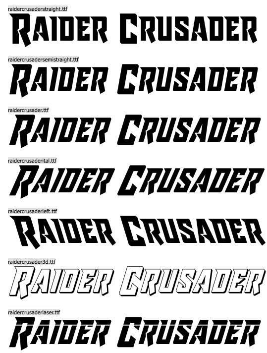 Raider Crusader Font
