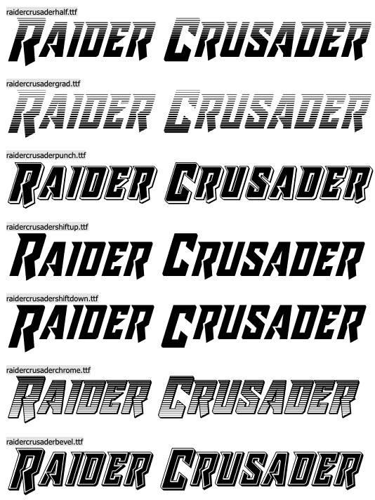 Raider Crusader Font free
