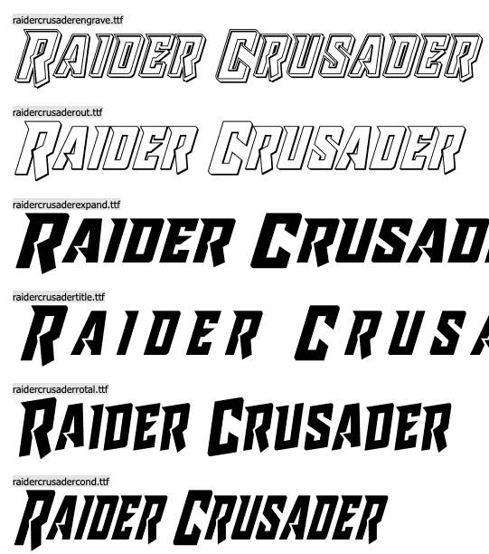 Raider Crusader Font download