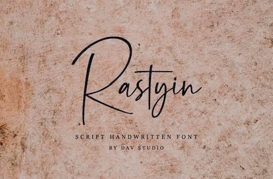 Rastyin Font free