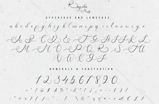 Raysha Moonly Font