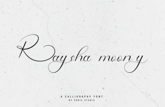 Raysha Moonly Font free download