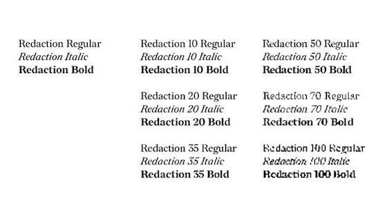 Redaction Font