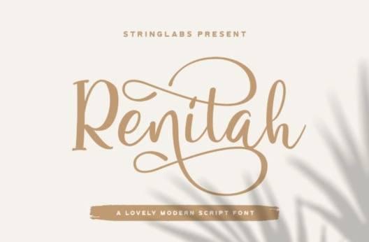 Renitah Font free download