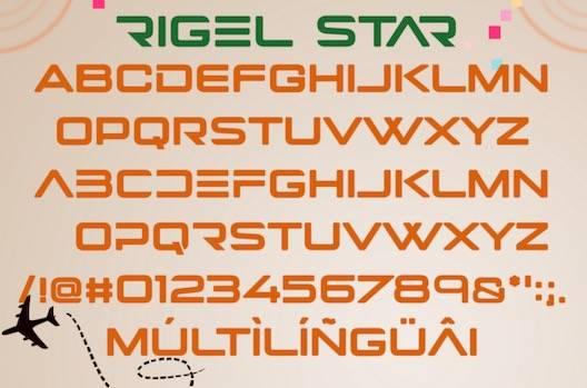 Rigel Star Font free