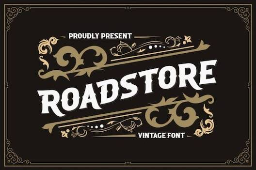 Roadstore Font free download