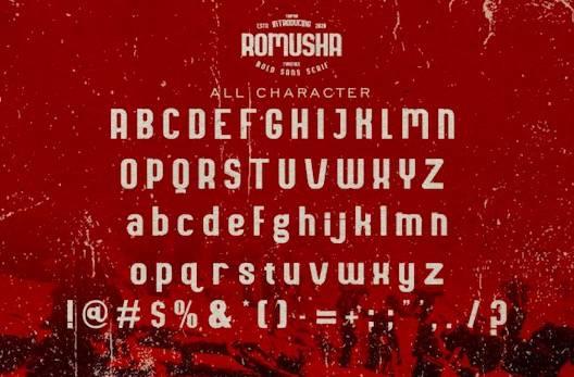 Romusha Font download