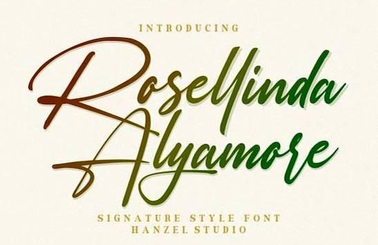 Rosellinda Alyamore Font free