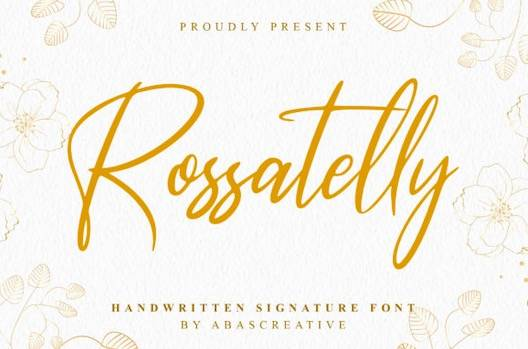Rossatelly Font free download