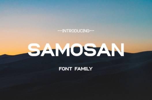 Samosan Font free download