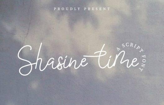 Shasine Time Font free download