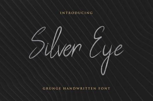 Silver Eye Font free download