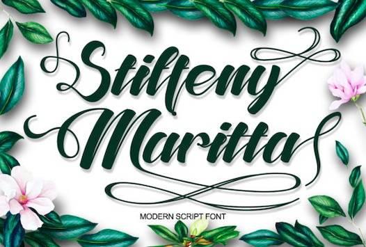 Stiffeny Maritta Font free download