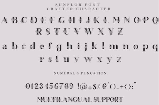 Sunflor Font download