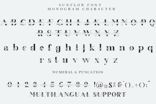 Sunflor Font free