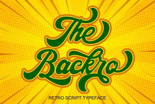 The Backro Font free download