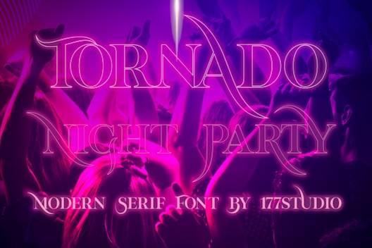 Tornado Night Party Font free download