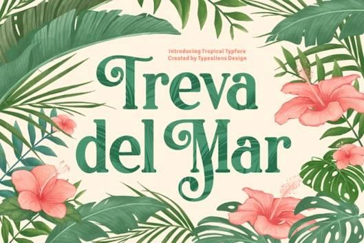 Treva Del Mar Font free download