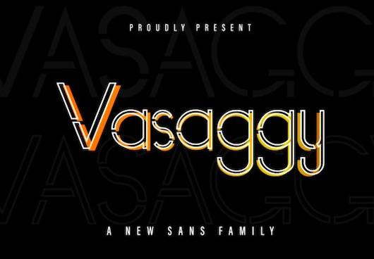 Vasaggy Font family free