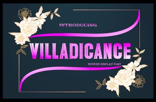 Villadicance Font free download