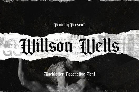 Wilson Wells Font free download