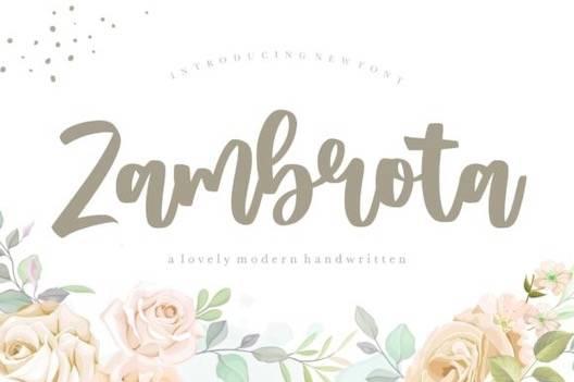 Zambrota Font download