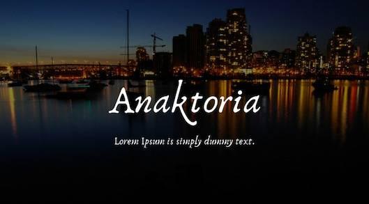 Anaktoria Font free download