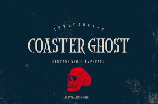 Coaster Ghost Font free