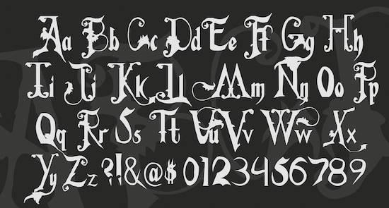 Addams Family Font free