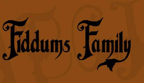 Addams Family Font download