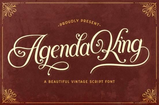 Agenda King font free download