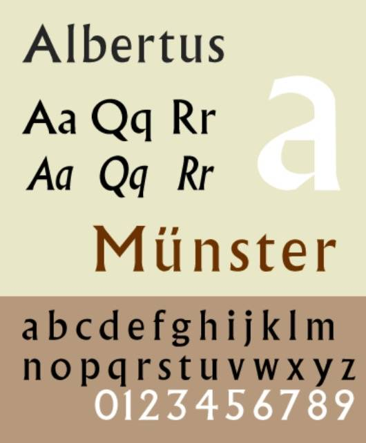 Albertus font free download