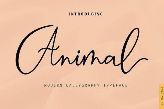 Animal Font free