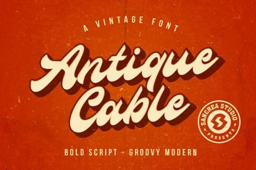 Antique Cable Font download