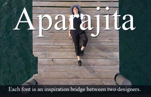 Aparajita font features