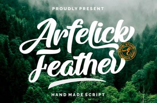 Arfelick Feather font free download